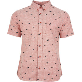 United By Blue Norde Stretch SS Button Down Men Canyon Orange-Mtn Peaks